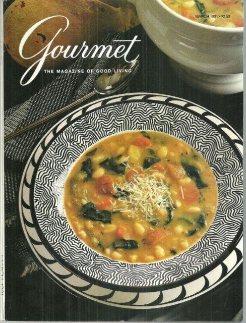 Gourmet Magazine March 1991 Easter Dinner