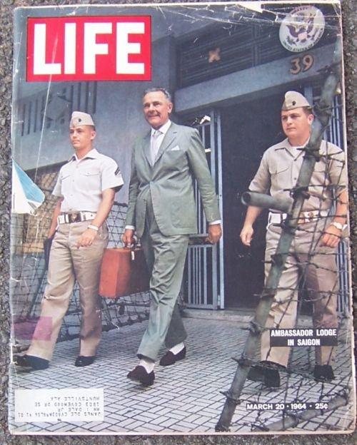 Life Magazine March 20, 1964 Ambassador Lodge in Saigon