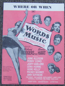 Where or When 1937 June Allyson Movie Sheet Music