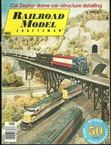 Railroad Modeler Magazine April 1976 California Zephyr