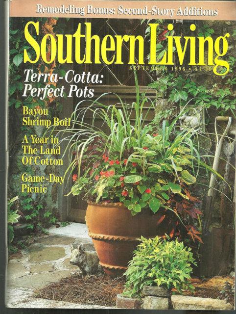 Southern Living Magazine September 1996 Terra Cotta Pot