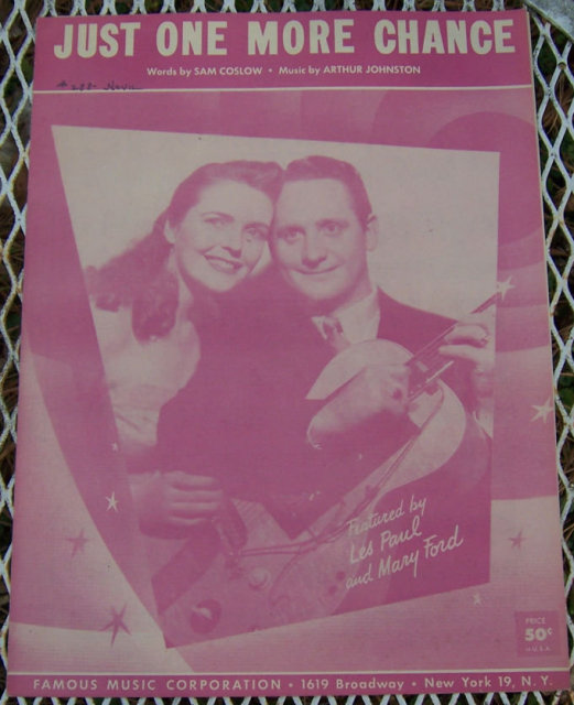 Just One More Chance Les Paul and Mary Ford Sheet Music