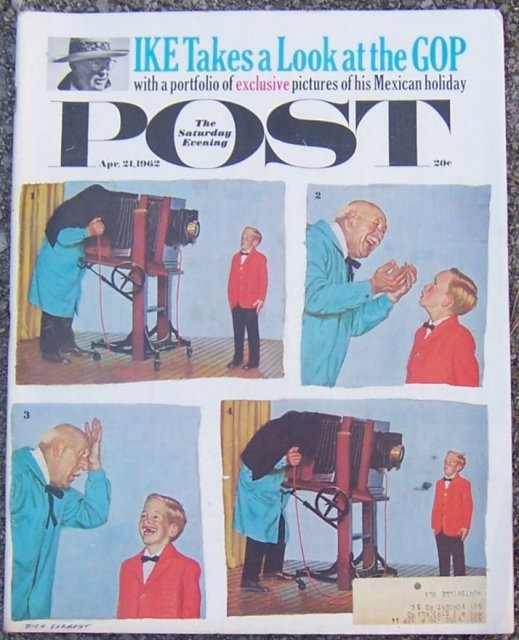 Saturday Evening Post Magazine April 21, 1962 Ike & GOP