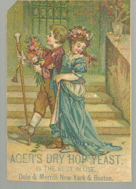 Victorian Trade Card for Ager's Dry Hop Yeast Children
