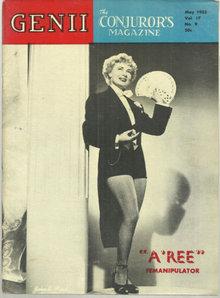 Genii Magazine May 1953 A Ree Femanipulator on Cover