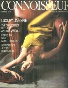 Connoisseur Magazine May 1988 Luxury Lingerie on Cover