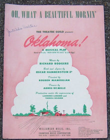 Oh, What a Beautiful Morning From Oklahoma Sheet Music