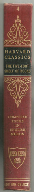 Complete Poems of John Milton Harvard #4 1963 Red