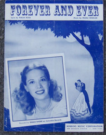 Forever and Ever Sung by Dinah Shore 1947 Sheet Music