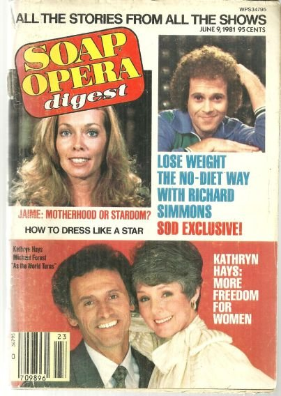 Soap Opera Digest June 9, 1981 Kathryn Hays on Cover