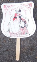 Souvenir Fan from the Court of Two Sisters with Recipes