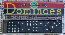 Vintage Set of Dominoes by Halsam in Box