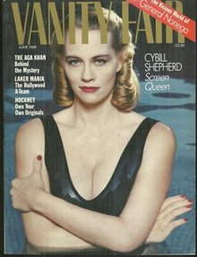 Vanity Fair Magazine June 1988 Cybill Shepherd On Cover