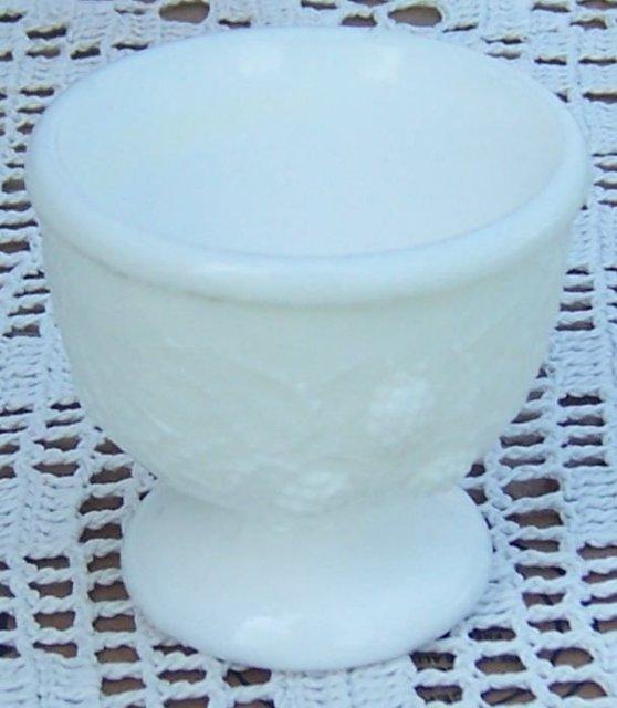 Antique Milk Glass Blackberry Pattern Glass Master Salt