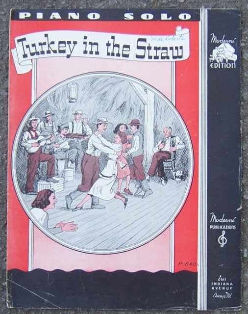 Turkey in the Straw 1941 Piano Solo Sheet Music