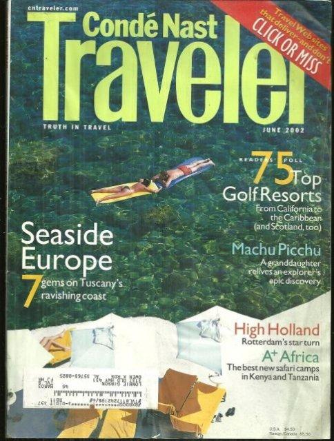 Conde Nast Traveler Magazine June 2002 Seaside Europe