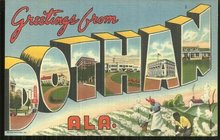 Vintage Greetings Postcard From Dothan, Alabama