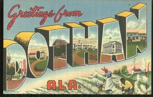 Vintage Greetings Postcard From Dothan, Alabama