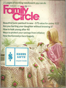Family Circle Magazine February 1971 Needlework
