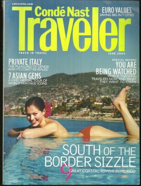 Conde Nast Traveler Magazine June 2004 Mexico Coastline