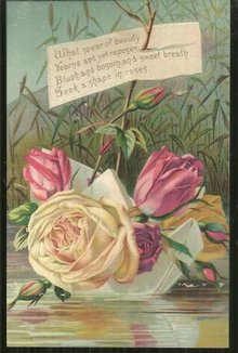 Victorian Trade Card for Acme Soap with Roses and Poem