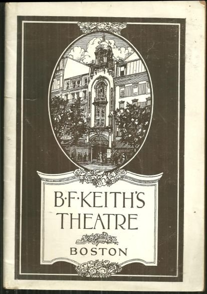 Program for B.F. Keith's Theatre, Boston, Mass Oct 1920