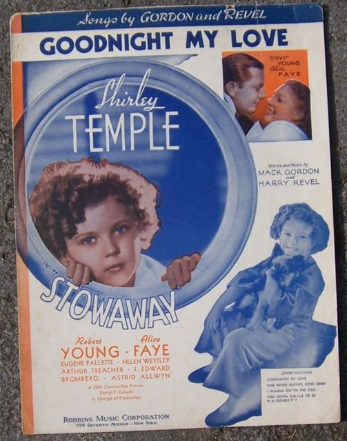 Goodnight My Love From Stowaway Shirley Temple 1936