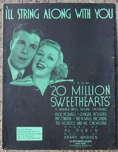 I'll String Along with You Dick Powell & Ginger Rogers