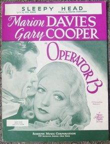 Sleepy Head Marion Davies and Gary Cooper 1934 Music