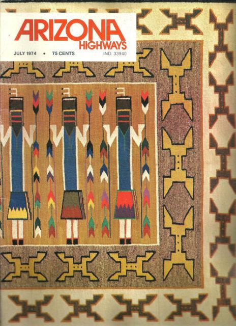 Arizona Highways Magazine July 1974 Hopi Weaving
