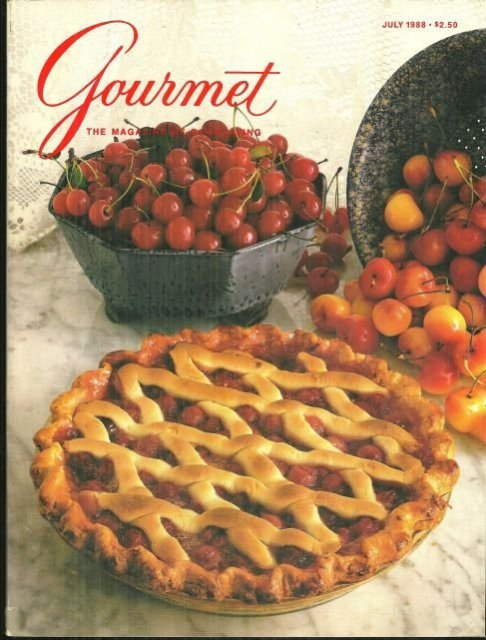 Gourmet Magazine July 1988 Fourth of July Dinner
