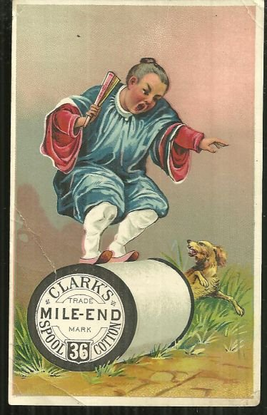 Victorian Trade Card for Clark's Mile End Spool Cotton