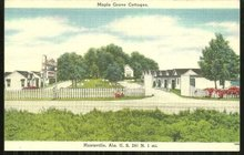 Postcard of the Maple Grove Cottages Huntsville Alabama