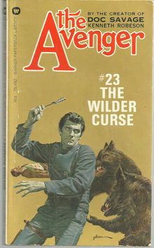 Wilder Curse by Kenneth Robeson Avenger #23 1974 Paper