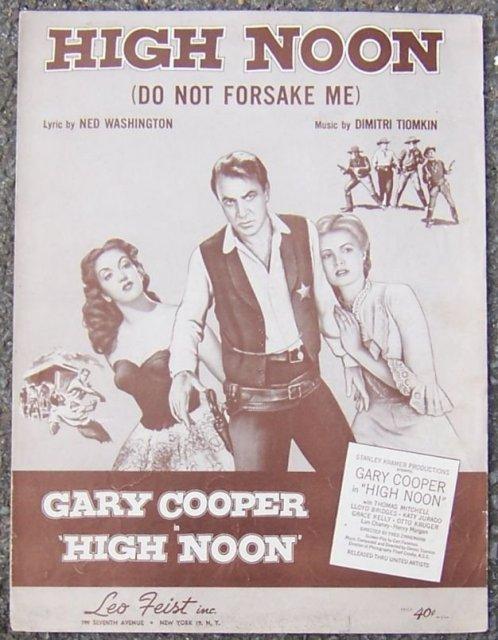 High Noon (Do Not Forsake Me) Gary Cooper 1952 Music