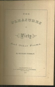 Pleasures of Piety and Other Poems by Richard Furman
