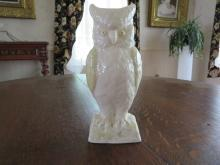 Belleek Owl Vase