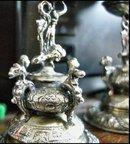 Pr of Rennaissance Open Salts : Bemberg Silver
