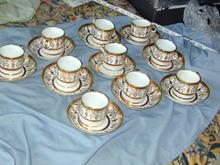 GEORGIAN REGENCY COFFEE CANS SEVRES PATTERN
