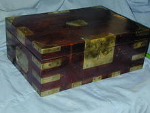 NAVAL  DRESSING BOX SILVER BOXES ARMORIAL