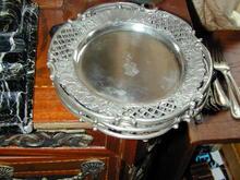 Art Nouveau German Armorial Silver Plates