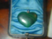 Old Russian Malachite Heart