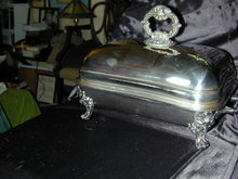 Georgian Silver Old Sheffield Covered Serving