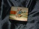 Antique Russian Paper Mache Lacquer Box