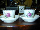 Pr. Antique Meissen Demitasse Cups and Saucers
