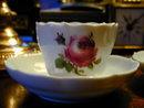 Pr. Antique Meissen Demitasse Cups and Saucers