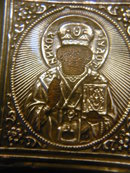 Faberge Imperial Russian Silver Icon:Nicholai