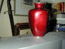 Vintage Japanese Red Emanel Vase