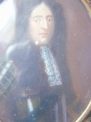 Miniature Portrait of James II Signed by Wyck