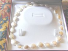 Wonderful String of Coin Pearls w. Gold Ends
